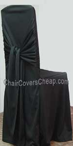 Black Bella chair covers
