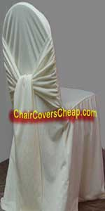 Bella chair cover in Ivory